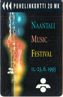 FINLAND - Naantali Music Festival 1993, Turun Puhelin Telecard, Tirage 6000, Exp.date 07/94, Used - Finland