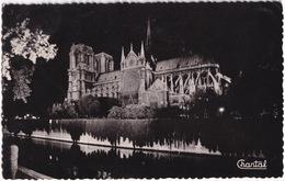 109 Paris - Notre-Dame Illuminée - (Postmark: 'Beret's Rouges'- 'Parachutistes Coloniaux') - 1957 - Notre-Dame De Paris