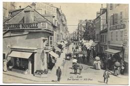 64-PAU-Rue Carnot...1908  Animé  Chapellerie, Epicerie... - Pau