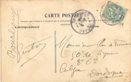 CACHET A DATE CUBJAC - DORDOGNE - 1877-1920: Période Semi Moderne