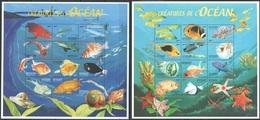U537 DE DJIBOUTI FISH & MARINE LIFE CREATURES DE L'OCEAN 2SH MNH - Vie Marine