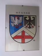 Cadre Blason Régiment Allemand (A.F.A.S.O.R FRIBOURG) 15 X 20 Cm - Militaria