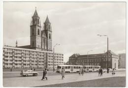 AK SW Magdeburg Karl-Marx-Straße Und Dom, Neu, 1978, 14,5 X 10 Cm, Bild Und Heimat, Echt Foto Biscan, 657/78, 2 Scans - Magdeburg