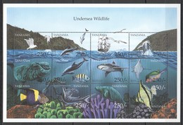 U543 TANZANIA FISH & MARINE LIFE UNDERSEA WILDLIFE 1SH MNH - Timbres