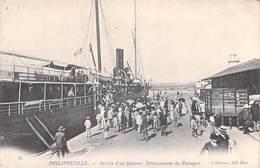 Afrique -Algérie (Skikda)  PHILIPPEVILLE Arrivée D'un Steamer Débarquement Des Passagers* Bateau à Vapeur (ND Phot  N°33 - Skikda (Philippeville)