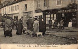 CPA PIONSAT La Grande Rue La Place Aux Moutons (860631) - Otros Municipios