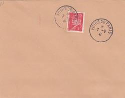 FRANCE - LETTRE CACHET COMMÉMORATIF 7.9.41 FOIRE DE PARIS  - Yv N°514 /1 - Commemorative Postmarks