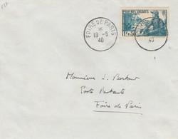 FRANCE - LETTRE CACHET COMMÉMORATIF  FOIRE DE PARIS 19.5.40 - Yv N°452 SEUL  /1 - Commemorative Postmarks