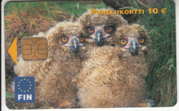FINLAND - Birds, FIN Telecard 10 Euro, Chip ODS, Tirage 8000, 05/03, Used - Finland