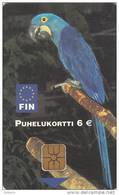 FINLAND - Parrot, FIN Telecard 6 Euro, Tirage 50000, 07/02, Used - Parrots