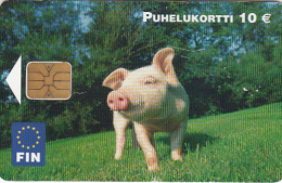 FINLAND - Pig, Fin Telecard 10 Euro, Tirage 30000, 05/04, Used - Phonecards
