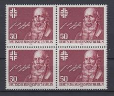 Berlin 570 4er Block Friedrich Ludwig Jahn 50 Pf Postfrisch - Berlin (West)