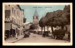 69 - COURS - GRANDE RUE - AUTOMOBILES ANCIENNES - POMPE A ESSENCE - Cours-la-Ville