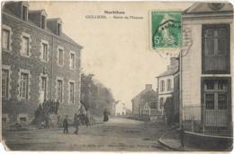 D56 - GUILLIERS - ROUTE DE MAURON - Plusieurs Personnes - Nombreux Enfants - Charrette - Brouette - Autres Communes