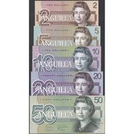 TWN - ANGUILLA (private Issue) - 2-5-10-20-50 Dollars 2019 Polymer - Prefix ZZ - Set Of 5 UNC - Banconote