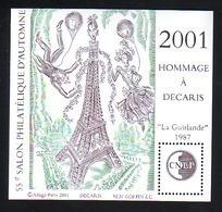 BLOC CNEP 2001 N° 34 - DECARIS TOUR EIFFEL LA GUIRLADE 1987 - CNEP