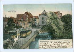 XX005128/ Hildesheim Innerste-Brücke Straßenbahn AK 1908 - Ohne Zuordnung