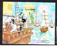 Grenadine  Grenada  -  1986. Paperino Pippo E Nipoti  Vela A New York. Goofy Donald Duck Sail To NeW York.MNH - Disney