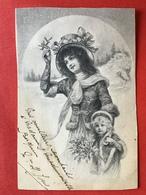 1904 - Illustrateur VIENNE - MOEDER EN KIND - MAMAN ET ENFANT - WINTERLANDSCHAP - HIVER - Vienne