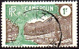 Cameroun Obl. N° 143 - Pont De Lianes 1 F Brun Et Vert ( Dentelure Nord-ouest Courte) - Oblitérés