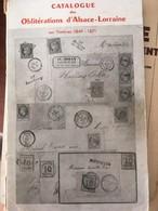 Catalogue D'obliterations Alsace Lorraine Spal 1953 - Oblitérations