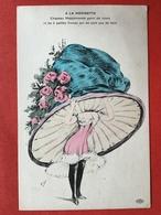 Illustrateur ORENS - A LA MODINETTE - Chapeau Mappemonde Garni De Roses Et De 2 Petites Fraises Qui Ne Sont Pas De Bois - Orens