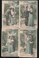 SERIE VAN 6 KAARTEN  2 SCANS - Couples