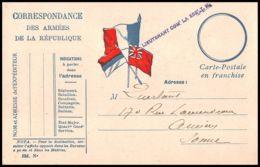 1100 Guerre 1914/1918 Lieutenant Commandant 252 TM Carte Postale En Franchise (postcard) - Postmark Collection (Covers)