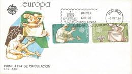 Spanien 1986: FDC Mit Sondermarken Nr. 2726+27°; Europa: Natur- U. Umweltschutz #D04 - FDC
