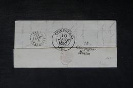 """FRANCE - Cursive """"  15 Champagne - Mouton """" Au Verso D'une Lettre De Poitiers En 1847 - L 34160 - 1801-1848: Precursors XIX"""