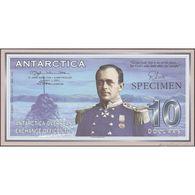 TWN - ANTARCTICA (private Issue) - 10 Dollars 1.1.2001 Specimen N0000 UNC - Banconote