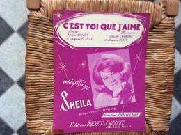 PARTITION MUSICALE  *SHEILA   C' Est Toi Que J' Aime - Scores & Partitions