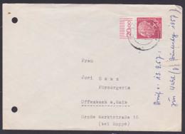 Theodor Heuss 20 Pfg.  MiNr. 185 Oberrand, Limburg Lahn - Cartas