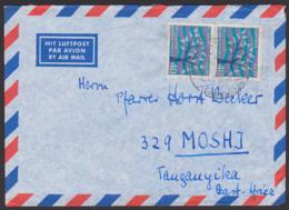 Europa 1962 MiNr. 384 40 Pfg. (2) Auslands-Lp-Brief  Nach Ost-Afrika Moshi, Baum Mit 19 Blättern - [7] West-Duitsland