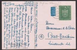 München Deutsches Museum MiNr. 163 10+5 Pfg. Mit NO, Eule Auf Zahnrad Signum Des Museums Auf Ak Rothenburg - BRD