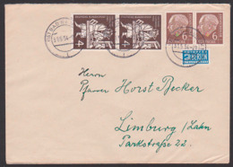 Heuss, Theodor 6 Pfg. Im Paar MiNr. 180 Mit Drucker Gutenberg-Handpresse 31.5.54 - BRD