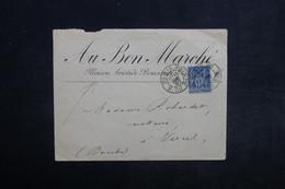 FRANCE - Enveloppe Commerciale De Paris Pour Vercel En 1887 - L 34171 - Marcophilie (Lettres)