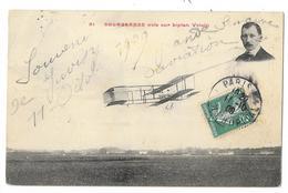 Cpa: AVIATION - DELAGRANGE Vole Sur Biplan Voisin 1909 N° 51 - Aviation