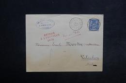 FRANCE - Enveloppe De Vercel Pour Valdahon En 1890 , Cachet Retour à L 'envoyeur En Rouge - L 34172 - Marcophilie (Lettres)