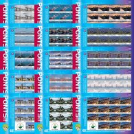 Djibouti 2019 Wuhan World Stamp Expo Famous Chinese Bridges Architecture Set Of 15 Full Sheets - Djibouti (1977-...)