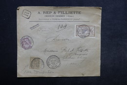 FRANCE - Enveloppe Commerciale En Recommandé De Montreuil Aux Lions Pour Château Thierry En 1903 - L 34174 - Marcophilie (Lettres)