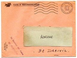 COTES Du NORD - Dépt N° 22 =   LANVOLLON 1968 = FLAMME Codée = SECAP MUETTE ' 5 LO ' FRANCHISE + GRIFFE RECEVEUR - Marcophilie (Lettres)