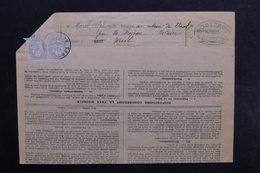 FRANCE - Affranchissement Paire De Blanc Sur Avis Pour Contribuables De Vercel - L 34176 - Marcophilie (Lettres)