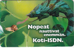 FINLAND(chip) - Chameleon, Koti ISDN, HPY Telecard, CN : RKI 000162, Tirage 10000, 10/98, Used - Phonecards