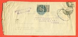 SEGNATASSE -21/9/1944  DA BOLOGNA PER PIACENZA - 1900-44 Vittorio Emanuele III