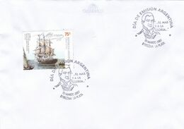 ARGENTINA - ALMIRANTE GUILLERMO BROWN, COMBATE DE MARTIN GARCIA 1814. YEAR 2007 ENVELOPE FDC - LILHU - Militares