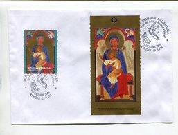 ARGENTINA - VIRGEN CON EL NIÑO JESUS, OBLITERES ANUNCIACION DE MARIA. YEAR 2005 ENVELOPE FDC - LILHU - Arte