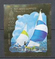 156 Guinée équatoriale Guinea N°289 OR Gold Stamps Non Dentelé Imperforate Jeux Olympiques Tallinn 1980 Voile Sailing - Summer 1980: Moscow