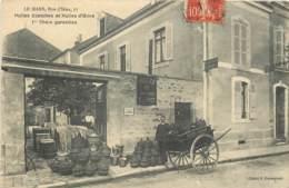 72 - LE MANS - Commerce De Huiles Blanches Et D'olive - 7 Rue D'Iena - Belle Et Rare Carte - Le Mans