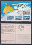 Papua New Guinea 1984 50th Anniv. Of First  Official Air Mail, Australia-PNG Maxicard - Papouasie-Nouvelle-Guinée